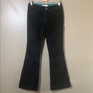 Corduroy, faded navy/black flare jeans